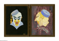 Illustration:Books, TWO FRAMED ILLUSTRATIONS. Herman Foster, Twentieth Century. Thereproductions of illustrations depicting characters for 'Fu ...