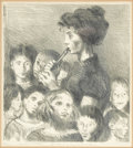 Prints:American, RAPHAEL SOYER (American 1899-1987). Sing A Song Of Friendship.Lithograph. Limited Edition, 19/300. Inscribed to lower margi...