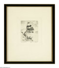 Prints:American, LYMAN BYXBE (American 1886-1980). Timberline. Etching. 3.5 x 4in..Titled and signed lower margin: Timberline Lyman Byxbe