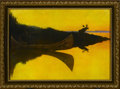 Prints:American, FREDERICK REMINGTON (American 1861 - 1909). Coming To The Call,1914. Period print on paper (P.F. Collier & Son). 9.75 x 14i...