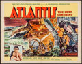"Movie Posters:Adventure, Atlantis, the Lost Continent (MGM, 1961). Half Sheet (22"" X 28"")& Lobby Card Set of 8 (11"" X 14""). Adventure.. ... (Total: 9Items)"