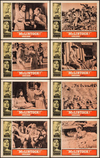 """McLintock! (United Artists, 1963). Lobby Card Set of 8 (11"""" X 14""""). Western. ... (Total: 8 Items)"""
