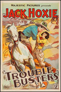 "Movie Posters:Western, Trouble Busters (Majestic, 1933). One Sheet (27"" X 41""). Western.. ..."