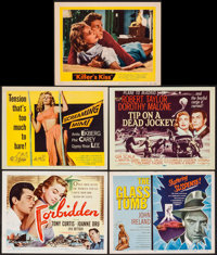 """Forbidden & Others Lot (Universal International, 1953). Title Lobby Cards (4), Lobby Card (11"""" X 14"""")..."""