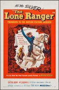 """Movie Posters:Western, The Lone Ranger (Warner Brothers, 1956). One Sheet (27"""" X 41""""). Western.. ..."""