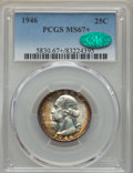 Washington Quarters, 1946 25C MS67+ PCGS. CAC....
