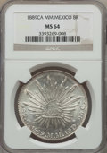 Mexico, Mexico: Republic 8 Reales 1889 Ca-MM MS64 NGC,...