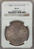 Mexico, Mexico: Republic 8 Reales 1885 Ca-MM MS62 NGC,...