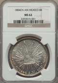 Mexico, Mexico: Republic 8 Reales 1884 Cn-AM MS62 NGC,...