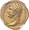 Ancients:Roman Imperial, Ancients: Hadrian (AD 117-138). AV aureus (20mm, 7.02 gm, 6h). NGC Choice XF ★ 5/5 - 5/5, Fine Style....