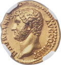 Ancients:Roman Imperial, Ancients: Hadrian (AD 117-138). AV aureus (20mm, 7.12 gm, 6h). NGC Choice AU ★ 5/5 - 5/5, Fine Style....