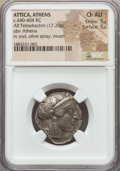 Ancients:Greek, Ancients: ATTICA. Athens. Ca. 454-404 BC. AR tetradrachm (17.20gm). NGC Choice AU 5/5 - 5/5....