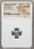 Ancients:Greek, Ancients: ARABIA, SOUTHERN. Qataban. Unknown Ruler(s) (350-300 BC).AR hemidrachm. NGC Choice XF....