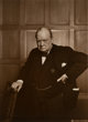Yousuf Karsh (Canadian, 1908-2002) Winston Churchill, 1941 Sepia toned gelatin silver 9 x 6-3/4 inches (22.9 x 17.1 c