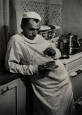 Photographs, W. Eugene Smith (American, 1918-1978). Weary Doctor with Coffee Cup, 1948. Gelatin silver, printed later. 8-1/2 x 6 inch...