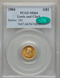 Commemorative Gold, 1904 G$1 Lewis and Clark Gold Dollar MS64 PCGS. CAC....