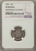 Bust Dimes, 1835 10C -- Improperly Cleaned -- NGC Details. XF. NGC Census:(18/410). PCGS Population: (73/533). CDN: $220 Whsle. Bid fo...