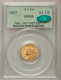 Indian Quarter Eagles: , 1927 $2 1/2 MS65 PCGS. CAC. PCGS Population: (500/22). NGC Census:(426/10). CDN: $1,195 Whsle. Bid for problem-free NGC/PC...