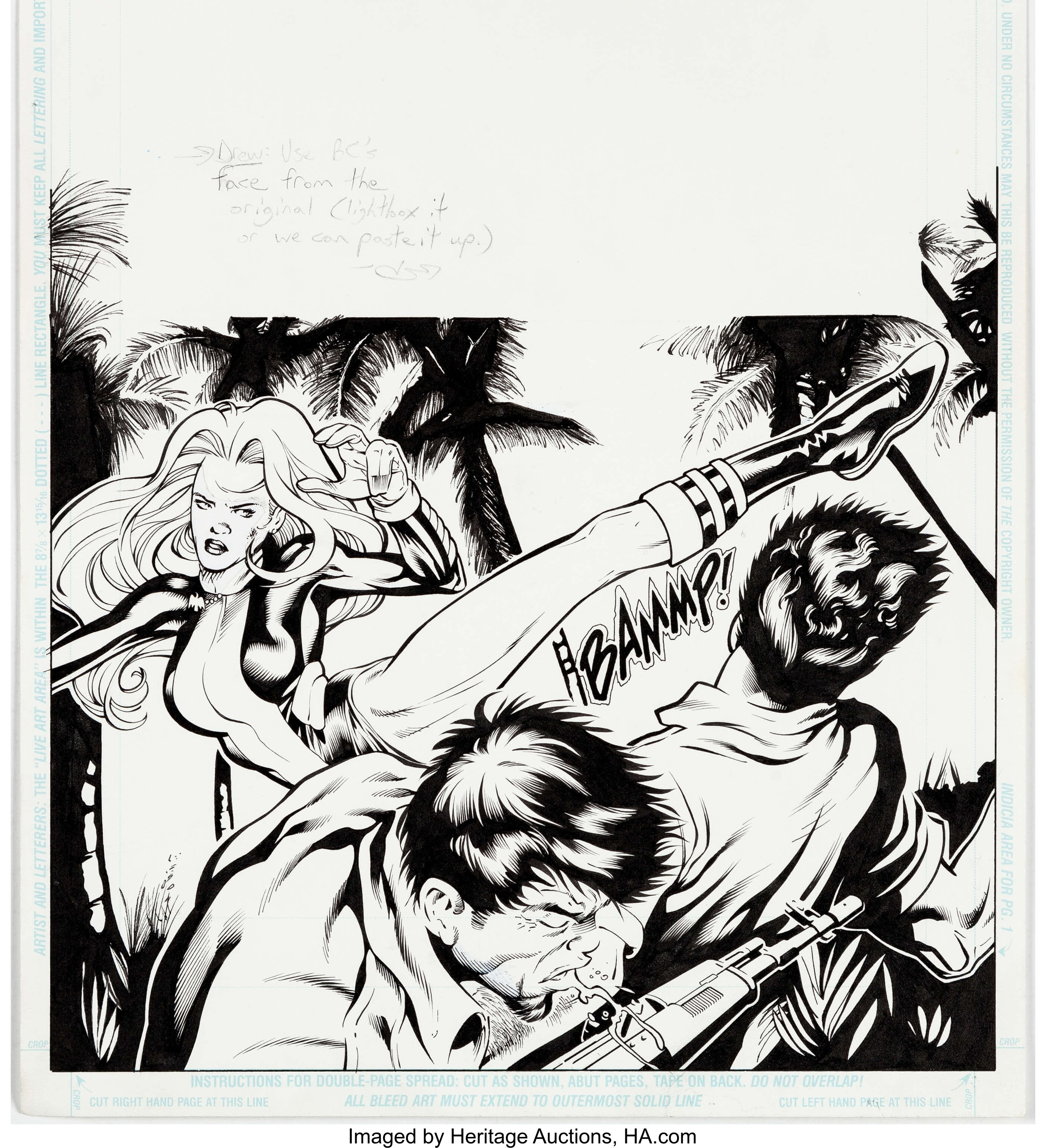 Greg Land And Drew Geraci Birds Of Prey 2 Page 10 Oracle And Black Lot 11092 Heritage Auctions