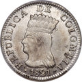 Colombia, Colombia: Cundinamarca.Republic 2 Reales 1821 Ba-JF MS64+PCGS,...