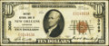 National Bank Notes:Louisiana, New Orleans, LA - $10 1929 Ty. 1 Whitney NB Ch. # 3069. ...