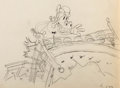 Animation Art:Production Drawing, Camping Out Horace Horsecollar Production Drawing (WaltDisney, 1934)....