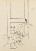Animation Art:Production Drawing, Mickey Mouse Animation Drawing (Walt Disney, c. early 1930s).. ...