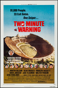 "Two-Minute Warning & Others Lot (Universal, 1976). Flat Folded One Sheets (3) (27"" X 41""). Thriller..."