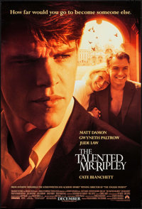 "The Talented Mr. Ripley & Others Lot (Paramount, 1999). One Sheets (4) (27"" X 40"" & 27"" X 41""..."