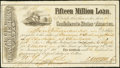 Confederate Notes:Group Lots, Ball 285 Cr. 140 $4,000 Fifteen Million Loan Certificate Feb. 28,1861 Fine.. ...