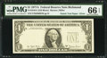 Error Notes:Third Printing on Reverse, Natick Test Paper Error Fr. 1910-E $1 1977A Federal Reserve Note. PMG Gem Uncirculated 66 EPQ.. ...