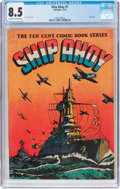 Golden Age (1938-1955):War, Ship Ahoy #1 (Spotlight, 1944) CGC VF+ 8.5 Off-white to whitepages....