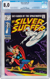 The Silver Surfer #4 (Marvel, 1969) CGC VF 8.0 White pages