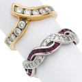 Estate Jewelry:Rings, Diamond, Ruby, Platinum, Gold Rings . ... (Total: 2 Items)