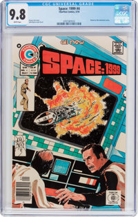 Space: 1999 #4 (Charlton, 1976) CGC NM/MT 9.8 White pages
