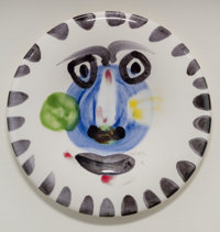 Pablo Picasso (1881-1973) Visage no. 202, 1963 Painted and glazed ceramic 9-7/8 inches (25.1 cm)