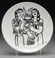 After Fernand Léger (1881-1955) Untitled (Women with plants) Apilco porcelain plate 9-1/2 inches (24.1 cm) (diame...