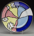 Post-War & Contemporary:Contemporary, Roy Lichtenstein (1923-1997). Water Lilies Plate, circa1990. Glazed ceramic. 12 inches (30.5 cm) (diameter). Marked 'Ro...