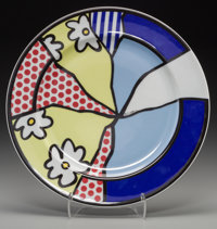 Roy Lichtenstein (1923-1997) Water Lilies Plate, circa 1990 Glazed ceramic 12 inches (30.5 cm) (d