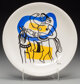 After Fernand Léger (1881-1955) Untitled (Figure with horse) Ceramic plate 9-1/2 inches (24.1 cm) (diameter)...