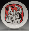Prints:Contemporary, After Fernand Léger (1881-1955). Untitled (Figures in red),circa 1970s. Ceramic plate. 9-1/2 inches (24.1 cm) (diameter...