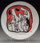 After Fernand Léger (1881-1955) Untitled (Figures in red), circa 1970s Ceramic plate 9-1/2 inches (24.1 cm) (diam...