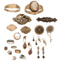 Estate Jewelry:Lots, Victorian Diamond, Multi-Stone, Shell Cameo, Seed Pearl, Gold,Metal Jewelry . ... (Total: 20 Items)