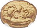 Ancients:Greek, Ancients: LYDIAN KINGDOM. Croesus and later (ca. 561-546 BC). AV stater (17mm, 8.09 gm). NGC MS 5/5 - 3/5, marks....