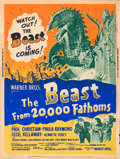 "Movie Posters:Science Fiction, The Beast from 20,000 Fathoms (Warner Brothers, 1953). Silk ScreenPoster (30"" X 40"") Style Z.. ..."