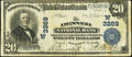 National Bank Notes:Colorado, Denver, CO - $20 1902 Plain Back Fr. 650 The Denver NB Ch. #(W)3269. ...