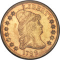 Early Eagles, 1799 $10 Small Obverse Stars, BD-2, High R.5, AU50 PCGS....