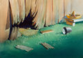 Animation Art:Painted cel background, Mexican Baseball Painted Production Background Group of 2(Terrytoons, 1947).... (Total: 2 )