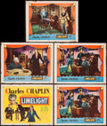 """Movie Posters:Drama, Limelight (United Artists, 1952). Title Lobby Card & Lobby Cards (4) (11"""" X 14""""). Drama.. ... (Total: 5 Items)"""