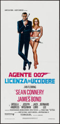 "Movie Posters:James Bond, Dr. No (United Artists, R-1970s). Italian Locandina (13"" X 27""). James Bond.. ..."